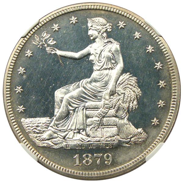 アンティークコイン アメリカ 1ドル トレードダラー銀貨 1879 Trade$ NGC Proof 64 未使用