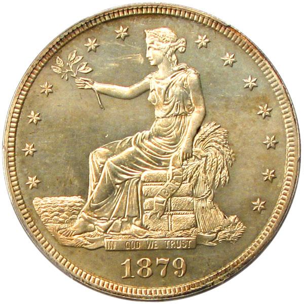 アンティークコイン アメリカ 1ドル トレードダラー銀貨 1879 Trade$ PCGS Proof 64 未使用 売切れ