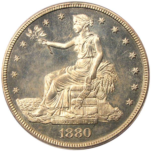 アンティークコイン アメリカ 1ドル トレードダラー銀貨 1880 Trade$ PCGS Proof 64
