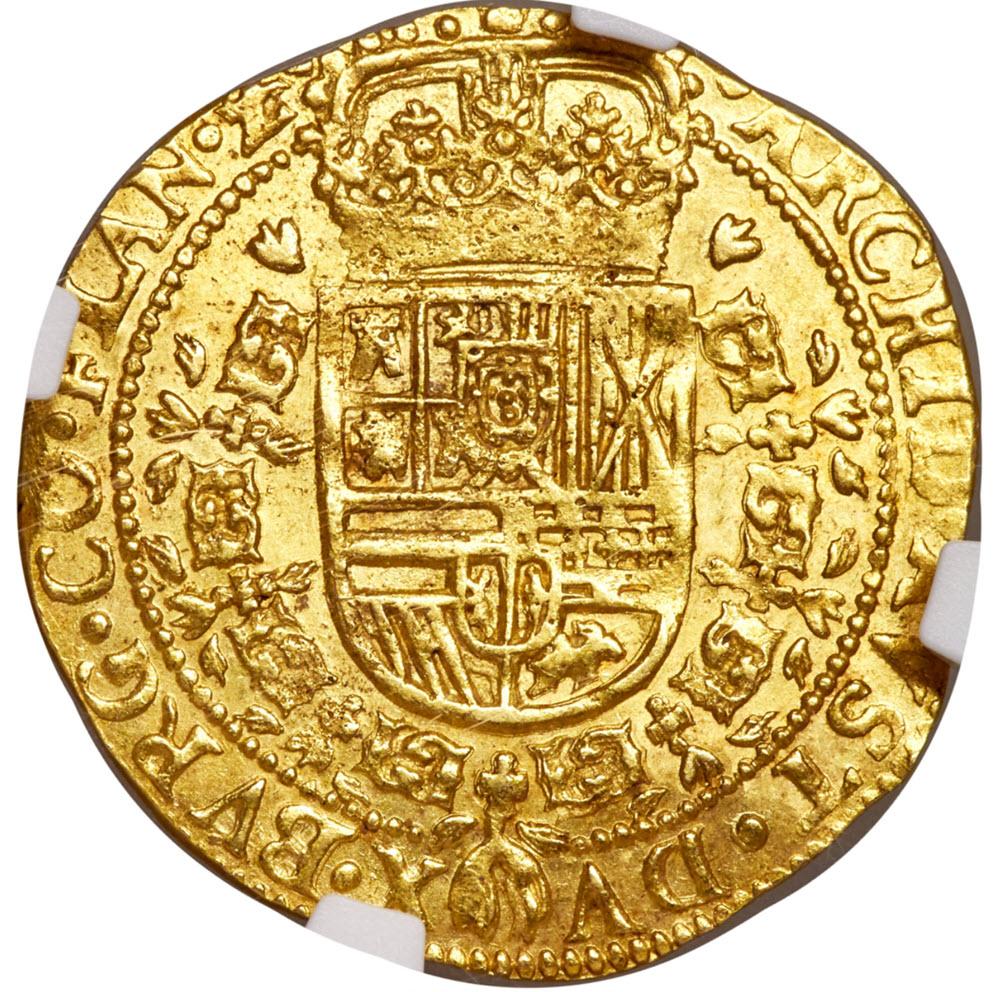 【動画あり】スペイン フェリペ4世 ゴールドソブリン 1SD'Or 1651 MS62 NGC