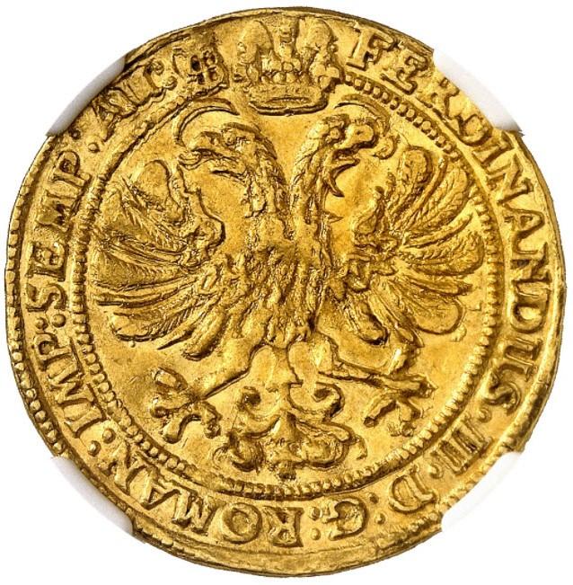 【動画あり】ドイツ ロストック1639年フェルディナンド3世2ダカット金貨NGC-MS62