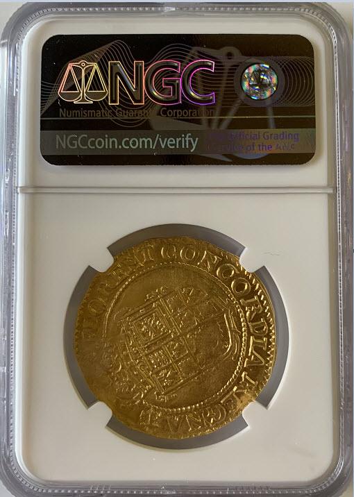 グレートブリテンチャールズ1世(1628-1631) ゴールド・ユナイト金貨NGC-AU55