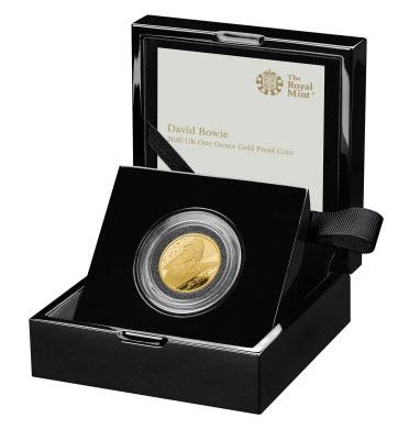 グレートブリテン 2020年 デヴィッド・ボウイ100ポンドプルーフ純金金貨NGC-PF70UCAMファーストリリース-オリジナル箱付き6028584-005
