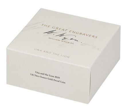 即納商品【動画あり】グレートブリテン2019年ウナとライオンプルーフ2オンス200ポンド金貨オリジナル箱付き2