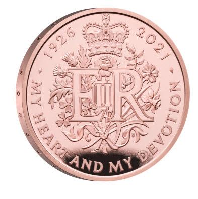 グレートブリテン2021年エリザベス女王生誕95周年1オンス5ポンド金貨NGC社PF70UCAM