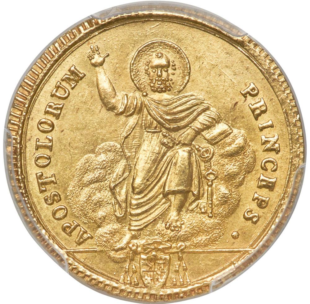 【動画あり】イタリア ローマ教皇ピウス7世 ゴールド・ドッピア (1817) MS63 PCGS