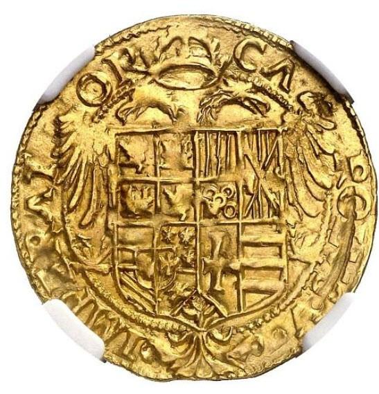 アンティークコイン(1519-1556)スペイン-カルロス1世バルセロナK1エスクードNGC-MS62