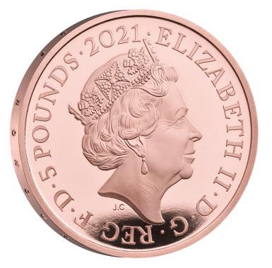 【動画あり】グレートブリテン2021年エリザベス女王生誕95周年1オンス5ポンド金貨PCGS-PR70DCAM