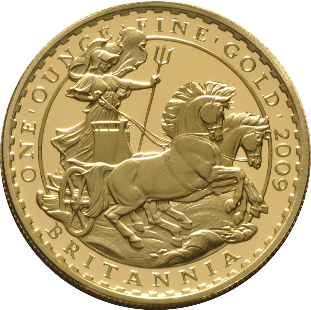 グレートブリテン2009年2頭の馬と戦車ブリタニア100ポンド金貨NGC-PF70UCAM