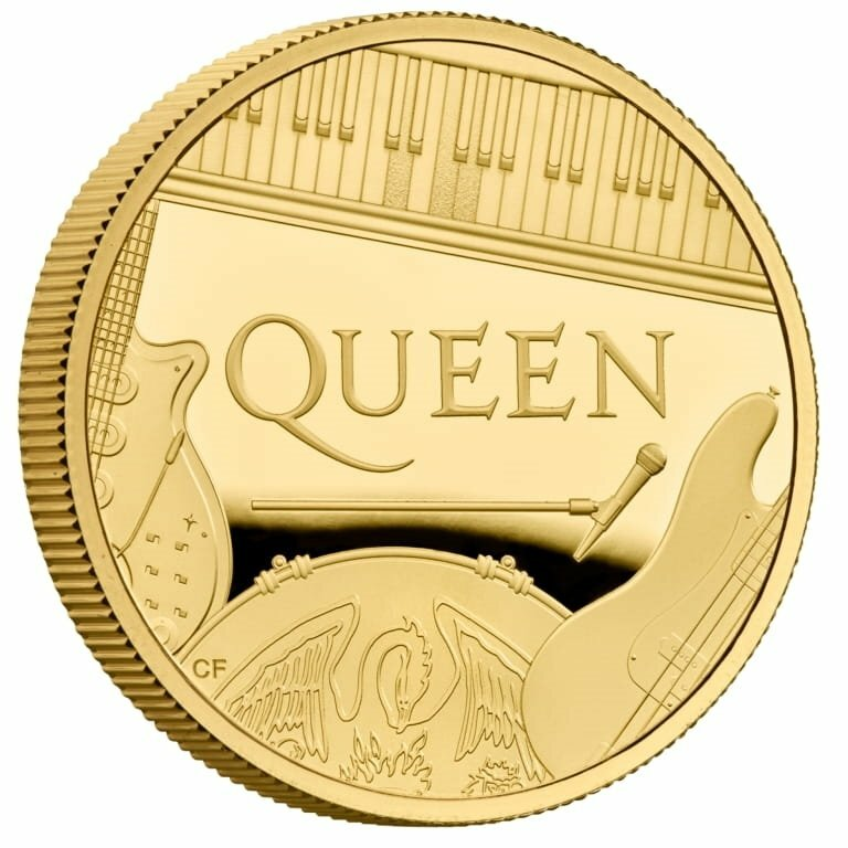 グレートブリテン 2020年 音楽の伝説シリーズクイーン 5オンス500ポンドプルーフ金貨オリジナル箱付き