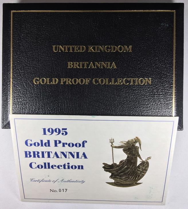 プルーフ金貨【4枚セット】 グレートブリテン 1995 ブリタニア100・50・25・10ポンドプルーフ金貨