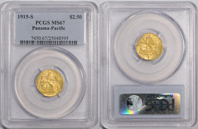 1915-S $2 1/2 PAN-PAC パナマ・パシフィック2.5ドル金貨PCGS MS67