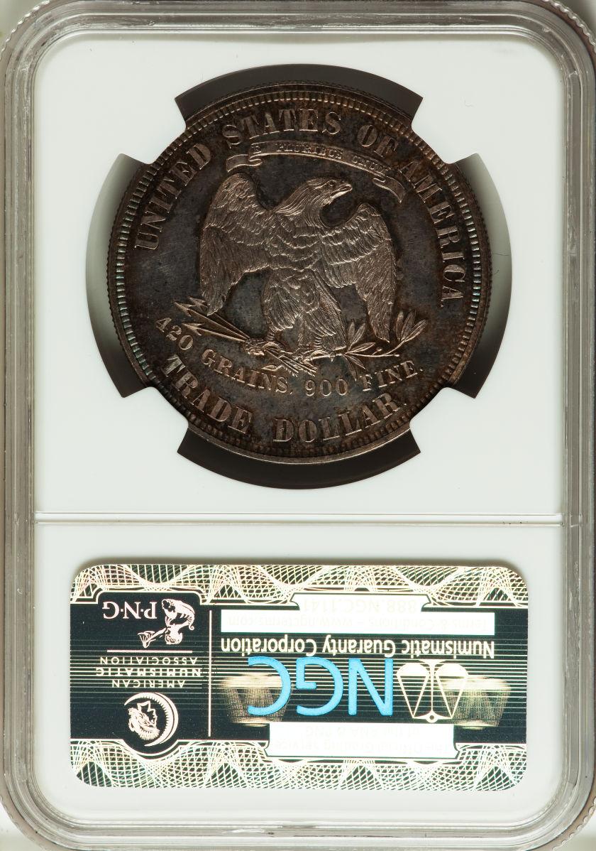 アンティークコイン アメリカ 1ドル トレードダラー銀貨 1879 TRADE T$1 NGC PF 65+