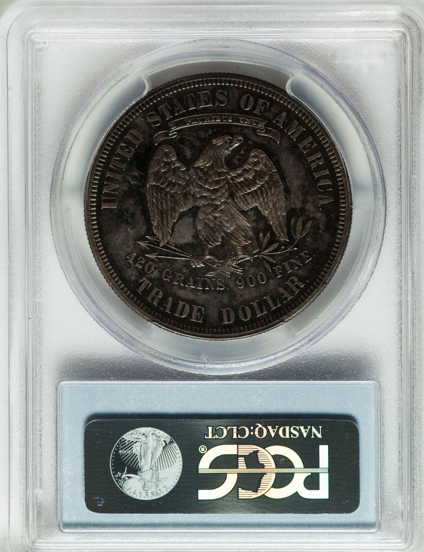 アンティークコイン アメリカ 1ドル トレードダラー銀貨 1880 TRADE T$1 PCGS/CAC PR 64