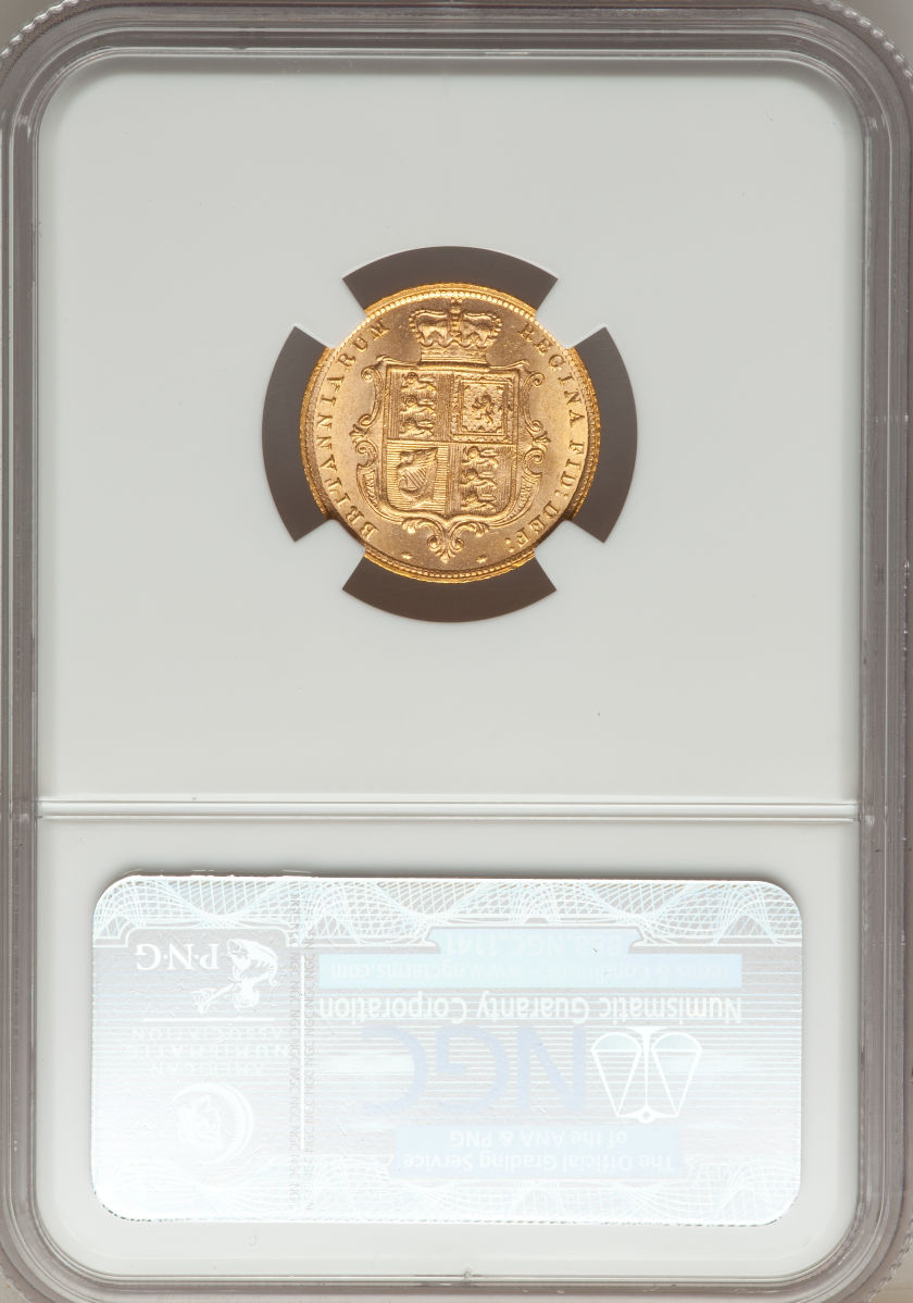トップグレード【動画あり】イギリス 1/2ソブリン金貨 Great Britain: Victoria gold Half Sovereign 1884, S-3861, KM735.1, 5th Young Head, MS64 NGC