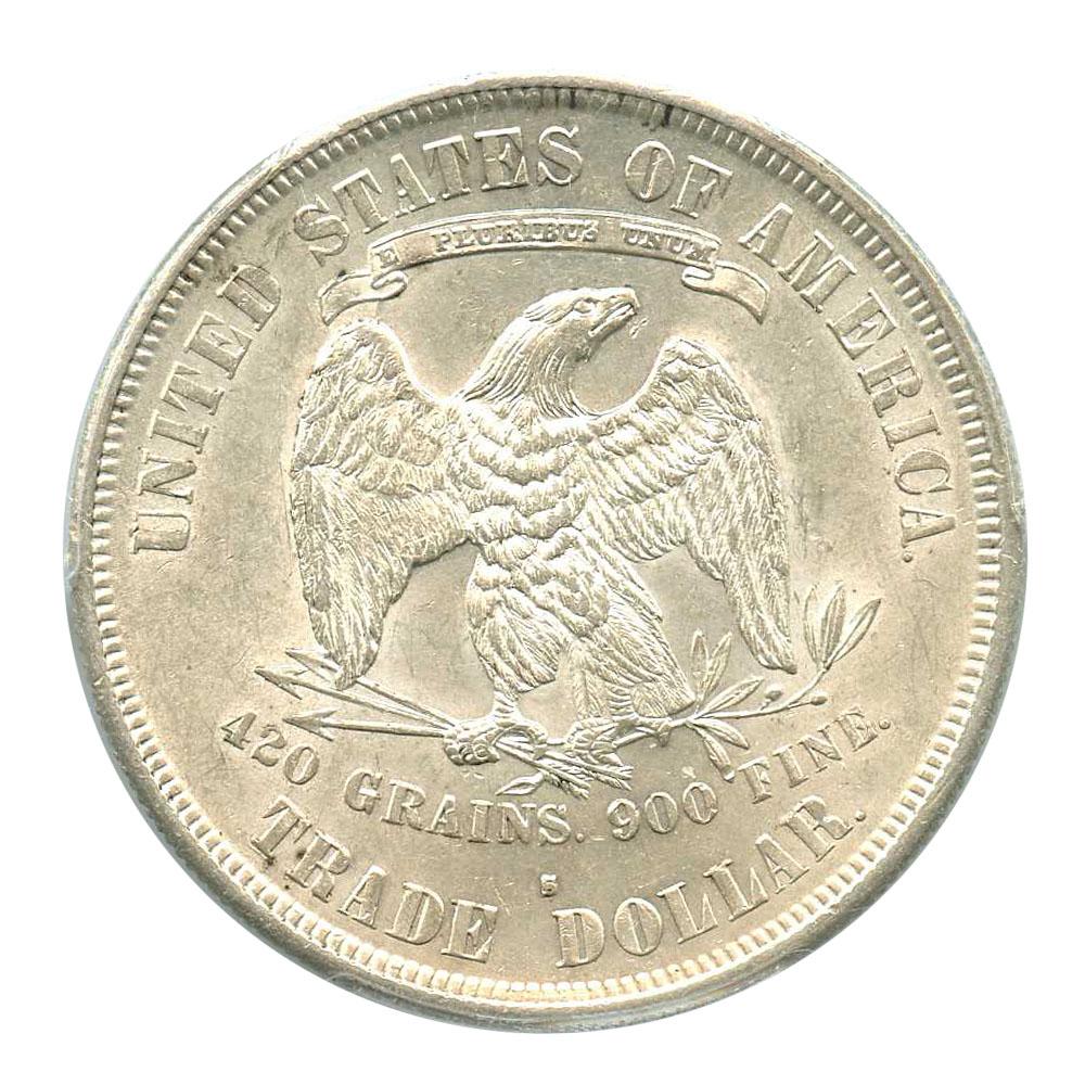 アンティークコイン アメリカ 1ドル トレードダラー銀貨1877-S Trade$ PCGS MS61