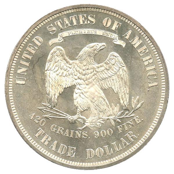 アンティークコイン アメリカ 1ドル トレードダラー銀貨 1876 Trade$ PCGS MS66 未使用 売切れ