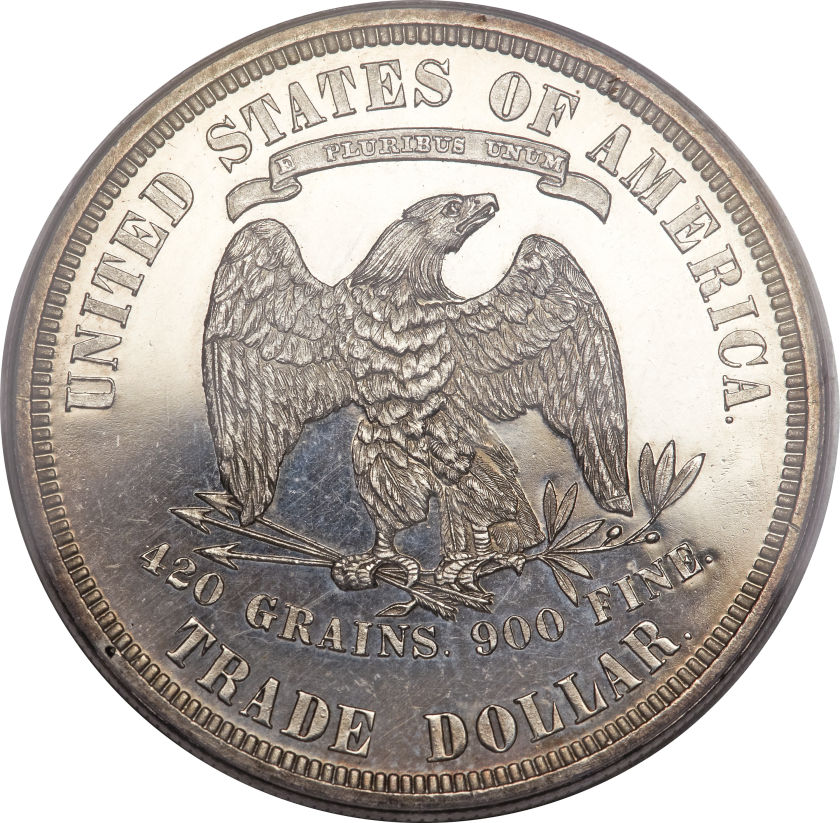 アンティークコイン アメリカ 1ドル トレードダラー銀貨 1876 Trade$ PR63 Deep Cameo PCGS. CAC