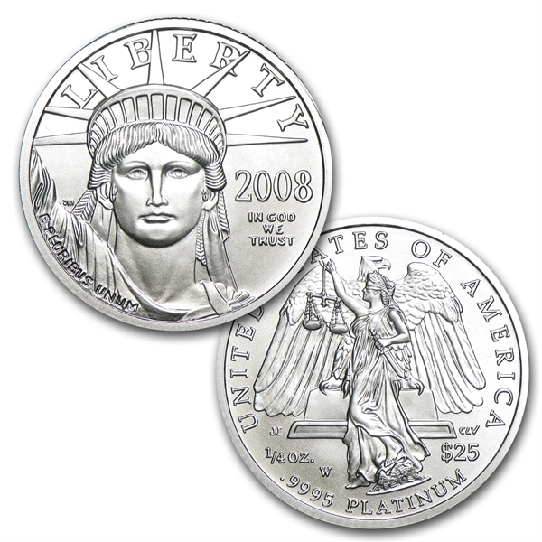 2008W 4-Coin プラチナイーグルPlatinum Burnished Platinum Eagle Set (4枚セット)