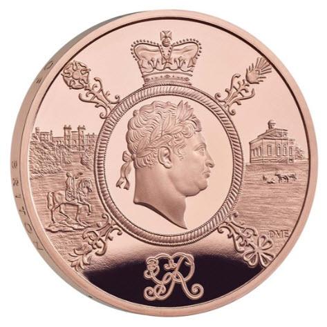 【動画あり】グレートブリテン2020年ジョージ3世1オンス5ポンドプルーフ金貨オリジナル箱付き2