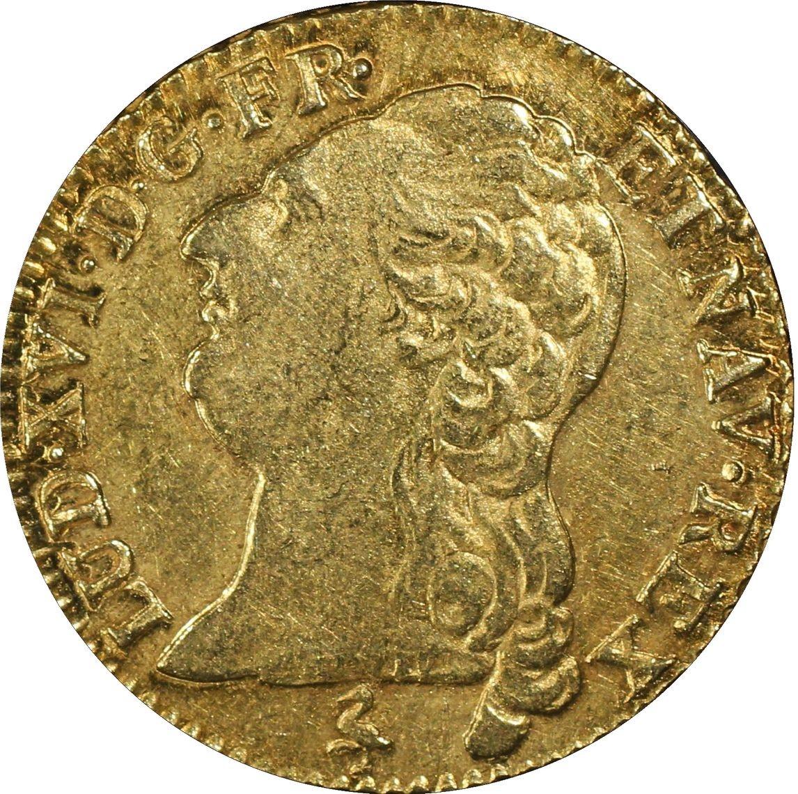 アンティークコイン-フランス-ルイ16世ルイドール金貨1786-A-PCGS-AU53