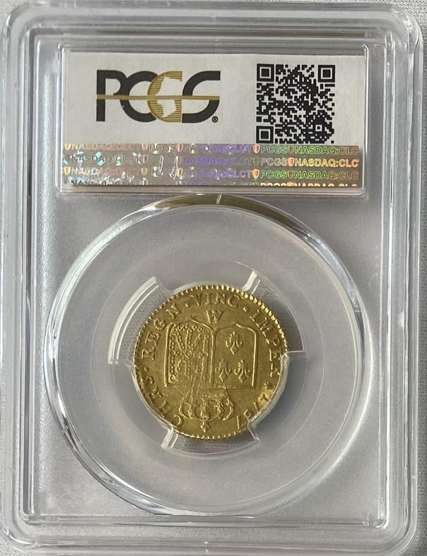 アンティークコイン-フランス-ルイ16世ルイドール金貨 1787-AA-PCGS-AU53