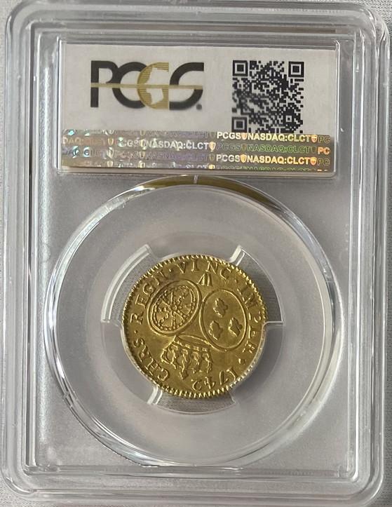 アンティークコイン-フランス-ルイ15世ルイドール金貨1742-W-PCGS-AU55