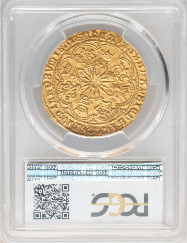 グレートブリテン エドワード4世(第1代、1461〜1470)ゴールド・ロイヤル(ローズノーブル)ND(1469〜1470)PCGS-MS62