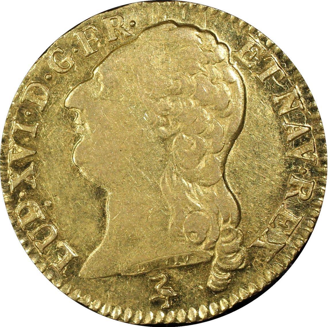 アンティークコイン-フランス-ルイ16世ルイドール金貨1788-A-PCGS-AU55