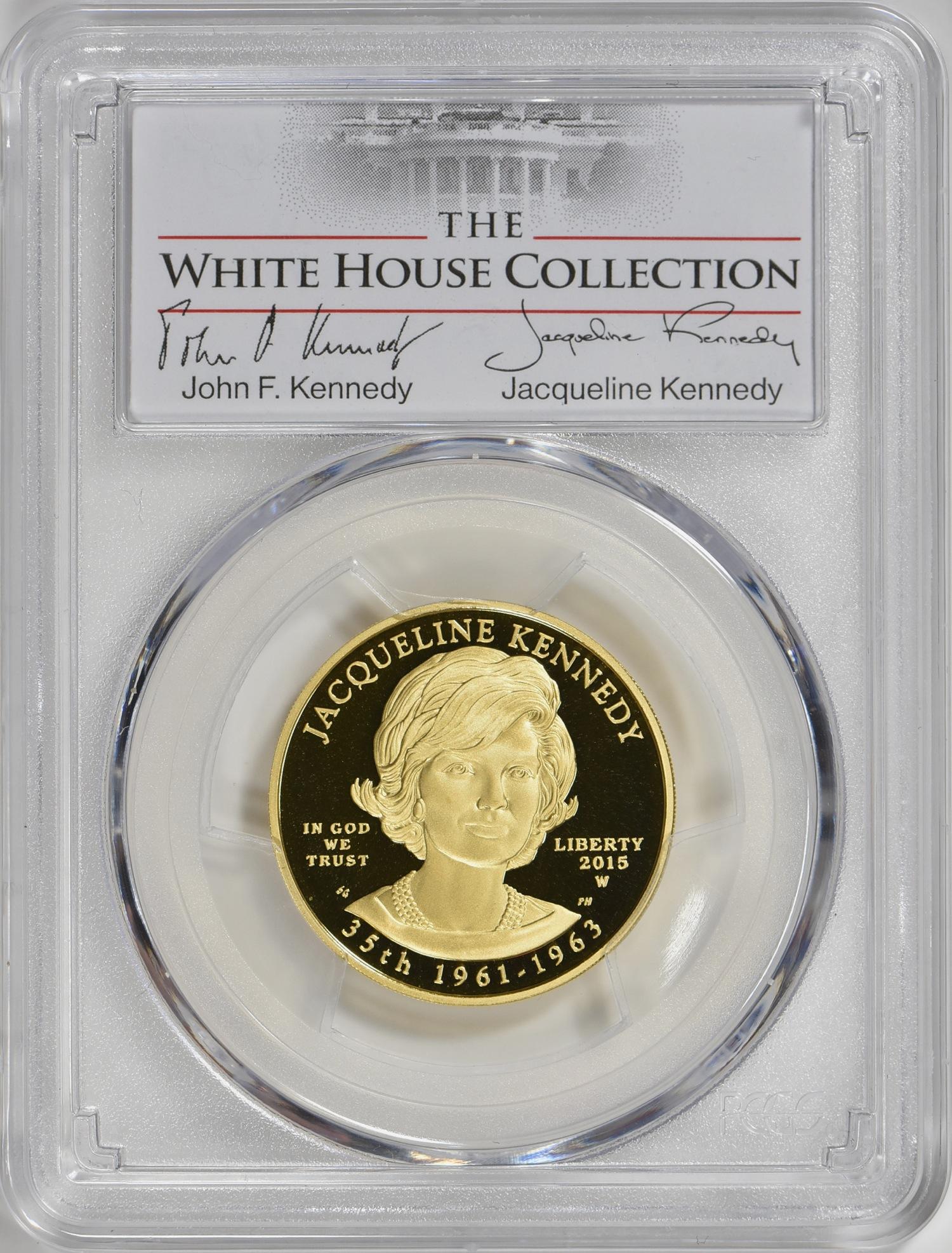 【動画あり】2015-W 10ドル金貨 ジャクリーン・ケネディ  $10 PCGS PR70DCAM(First Strike)The White House Collection