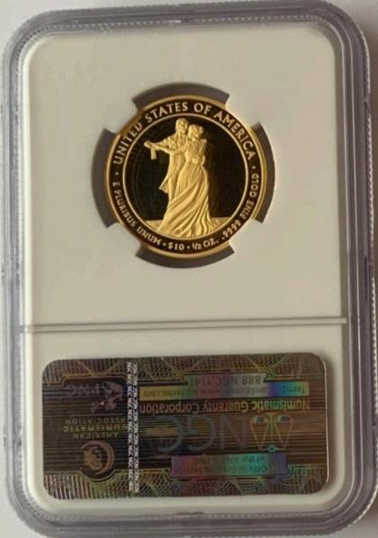 2009-W 10ドル金貨 ジュリア タイラー$10 NGC Proof 70 UCAM