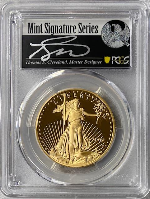 【ラスト1枚動画あり】アメリカ50ドル金貨 ゴールドイーグル 2005-W年 $50PCGS PR70DCAMクリーブランドサイン入り73285343