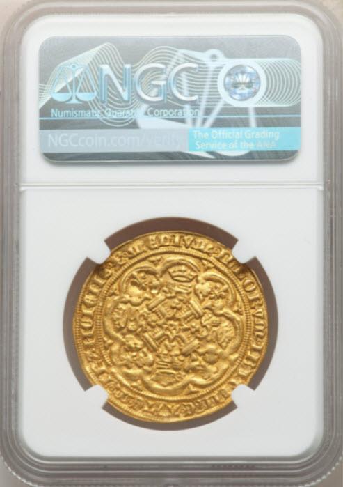 グレートブリテンエドワード3世(1351-1352)ノーブル金貨NGC-MS64