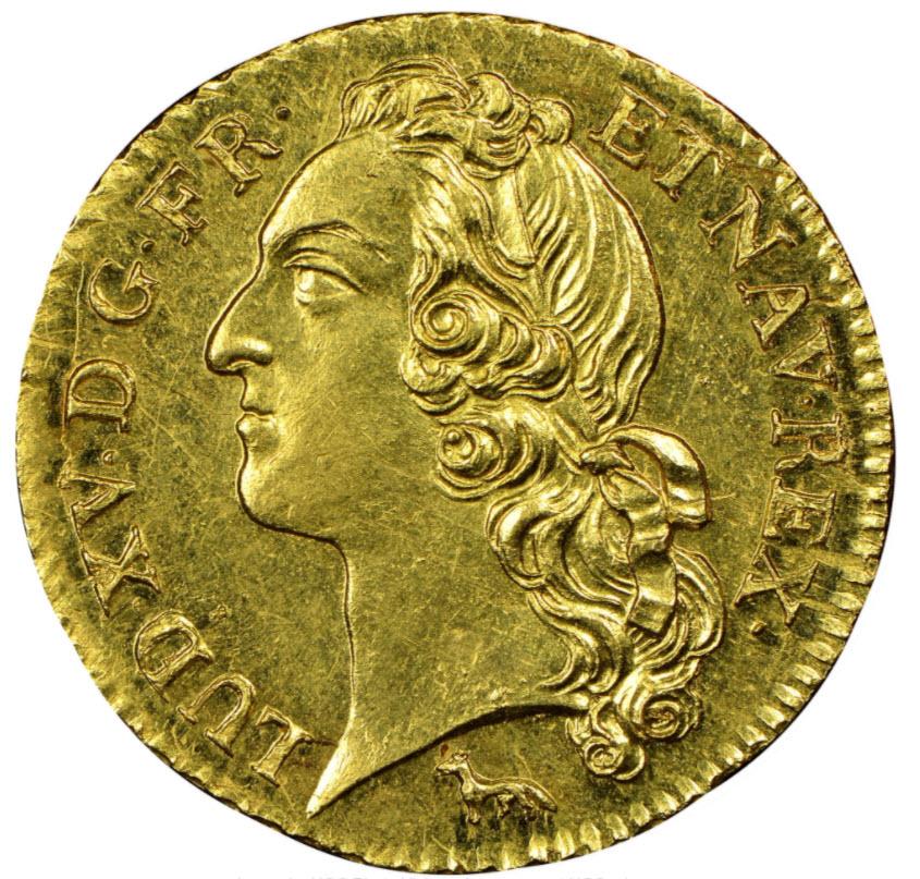 フランス ルイドール金貨 ルイ15世1753A-NGC-MS63