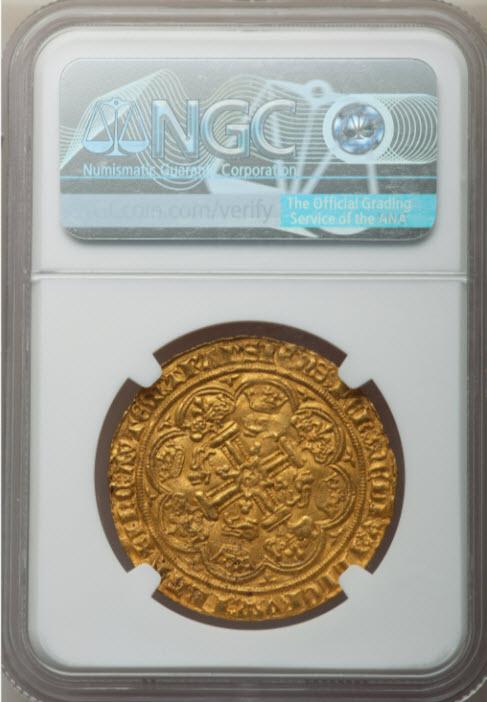 グレートブリテンエドワード3世(1363-1369)ノーブル金貨NGC-MS62