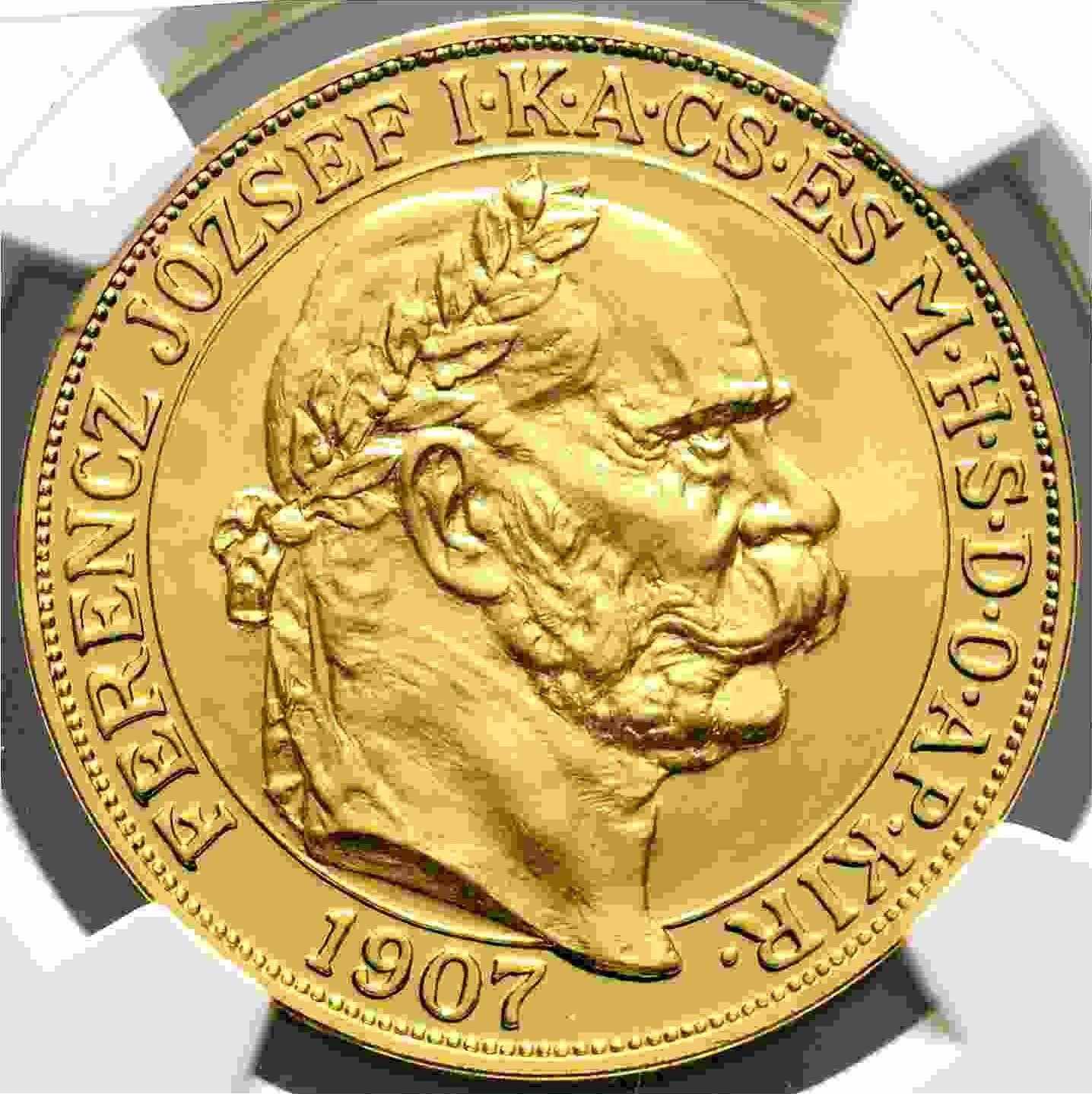 【動画あり】チェコスロバキア 2017年 フランツ・ヨーゼフ1世 皇帝戴冠式150周年記念 100コロナ金貨 NGC-PF70