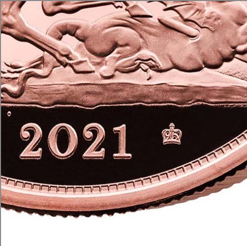 グレートブリテン 2021年 エリザベスII世95周年バースデー記念5ポンド金貨 PCGS-PR70DCAM