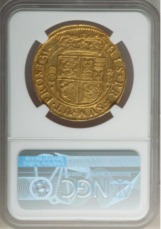 グレートブリテンチャールズ1世(1637-1642)ゴールド・ユナイト金貨NGC-AU55