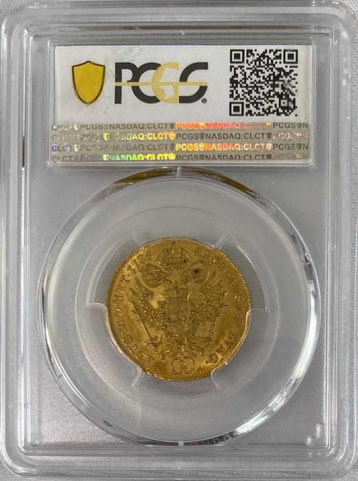 【動画あり】オーストリア 1786-Aヨーゼフ2世2ダカット金貨PCGS-MS61