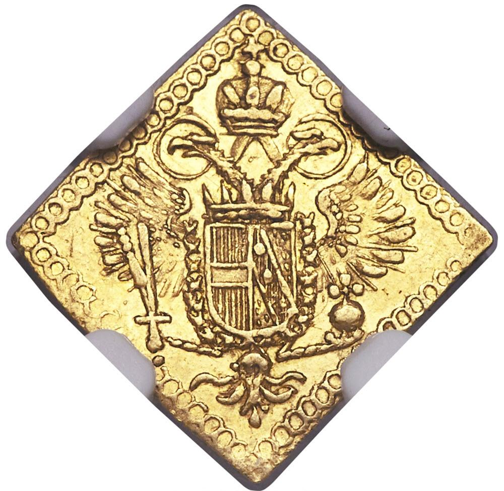 ドイツ レーゲンスブルク ゴールド・クリッペ 1/4 ダカットND (1745-1765) MS62 NGC