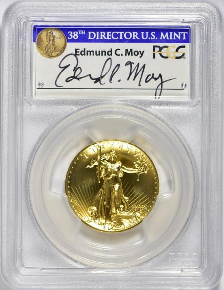 2009ウルトラハイリリーフ金貨 PCGS-MS70 Edmund C. Moyサイン入り