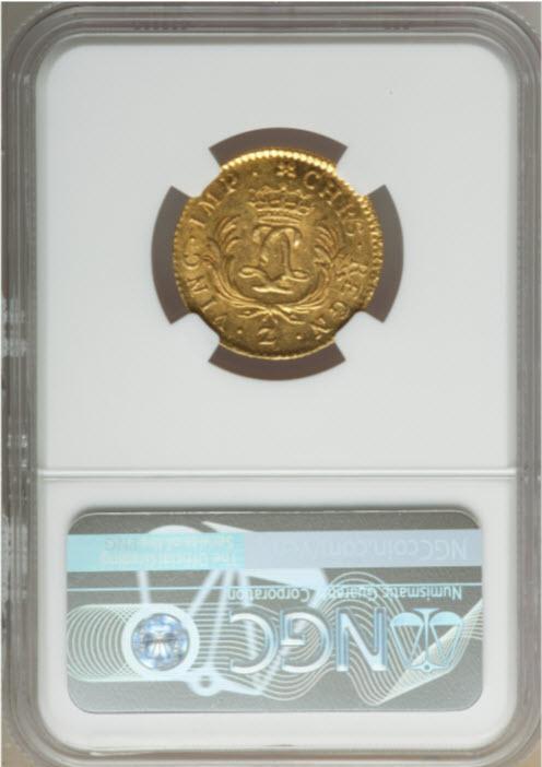 フランス1725-Z年ルイ15世ルイドール金貨NGC-MS63