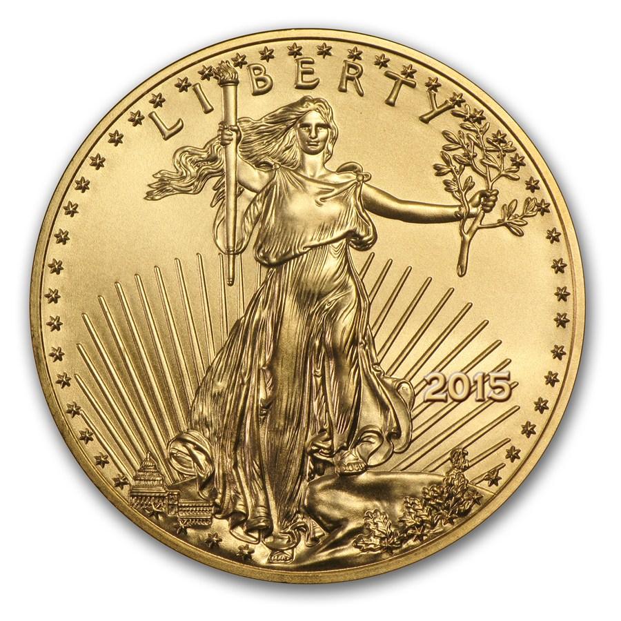 【動画あり】50ドル金貨 ゴールドイーグル 2015 GOLD EAGLE  $50 PCGS MS70 ファーストストライク完全未使用