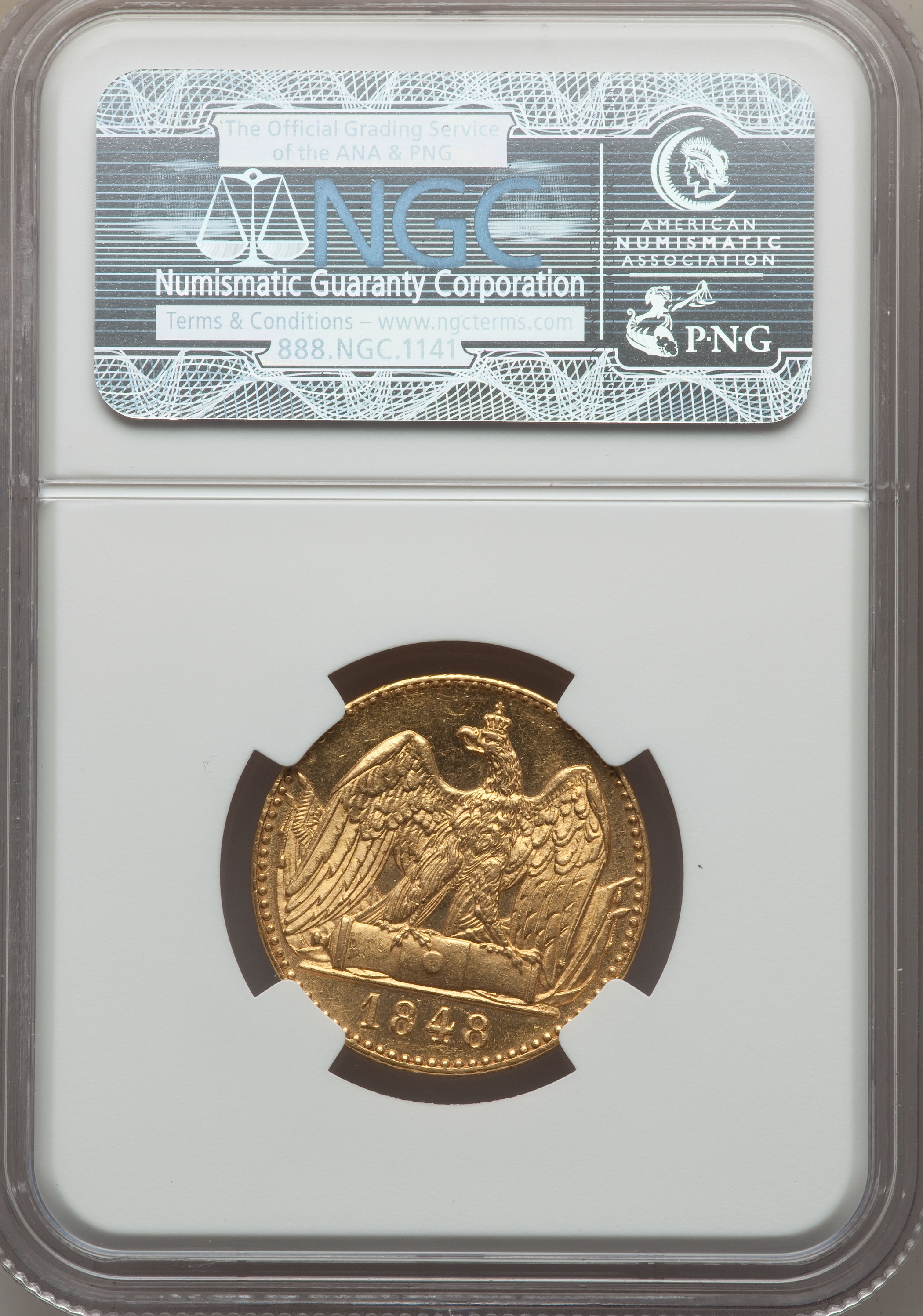 【動画あり】アンティークコイン ドイツ金貨 Prussia. Friedrich Wilhelm IV gold 2 Frederick d'or 1848-A MS63 NGC