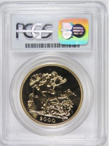 【最高グレード】【動画あり】2000グレートブリテン5ソブリン金貨MS69 PCGS