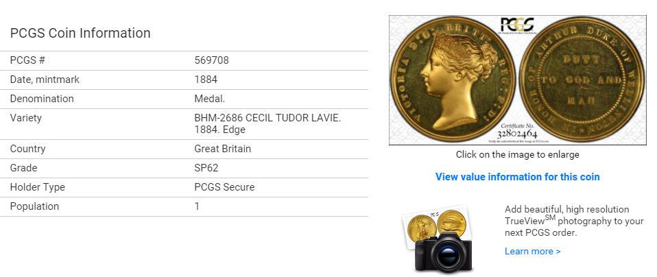 【ウナライオンのワイオンデザイン 鑑定済世界で1枚】【動画あり】アンティークコイン グレートブリテン 金貨ヴィクトリアゴールドメダル1884 PCGS SP62