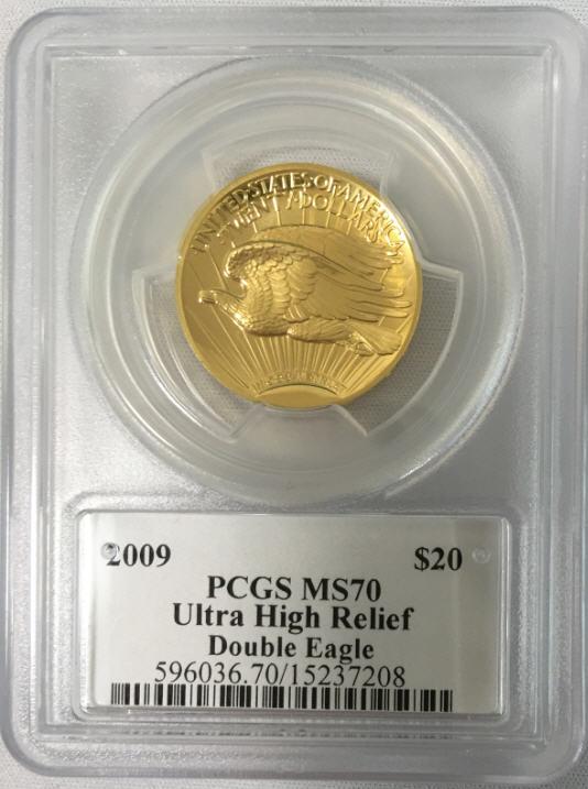 【動画あり】2009ウルトラハイリリーフ金貨 PCGS-MS70 未使用 DAVID HALLサイン入り
