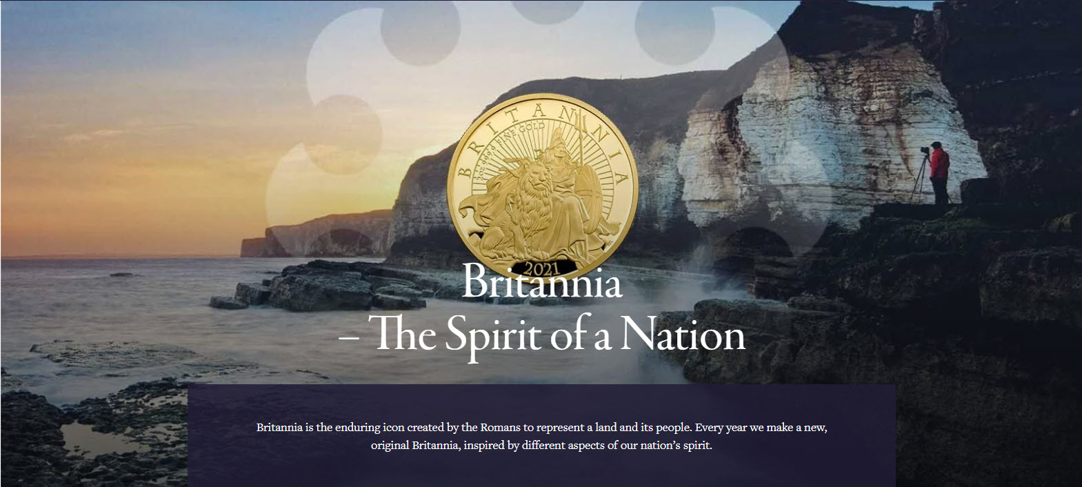 グレートブリテン2021年エリザベス2世純金5オンス500ポンドプルーフ・ライオンとブリタニア金貨箱付き