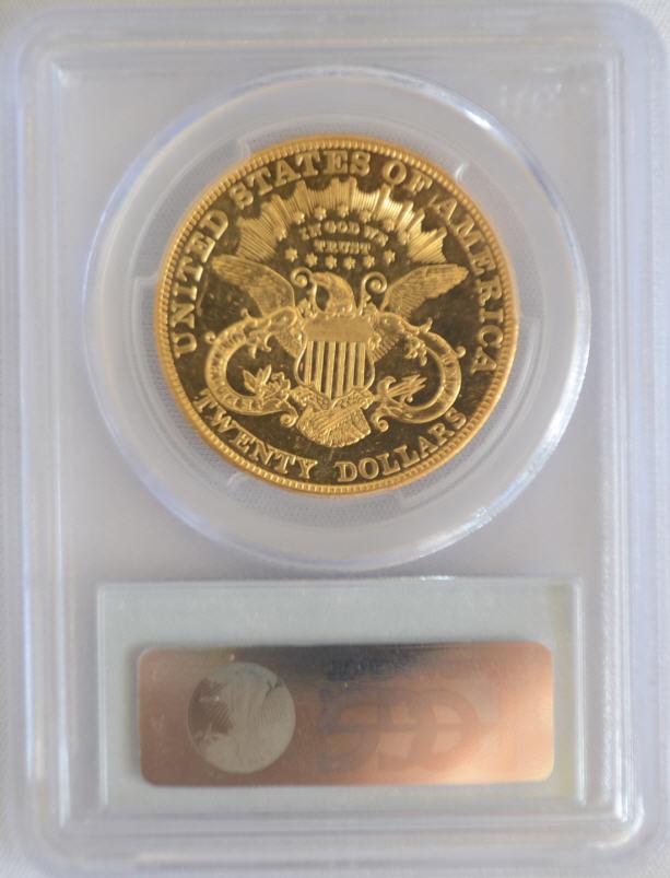 【動画あり】アンティークコイン アメリカ 20ドル金貨リバティヘッドプルーフ1901 $20 PCGS PR62CAM