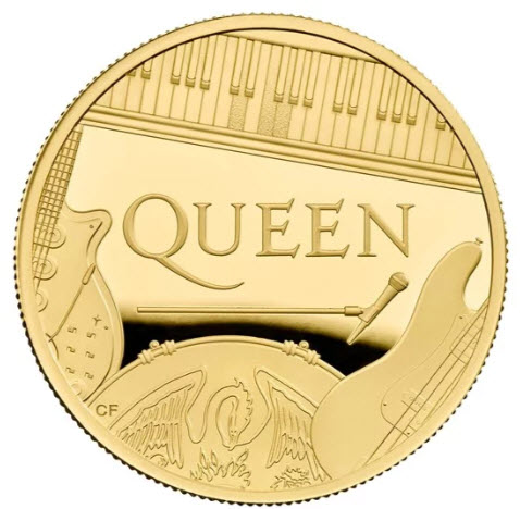 グレートブリテン 2020年 音楽の伝説シリーズ クイーン1オンス 100ポンドプルーフ金貨 PCGS-PR70DCAM箱付き41455278